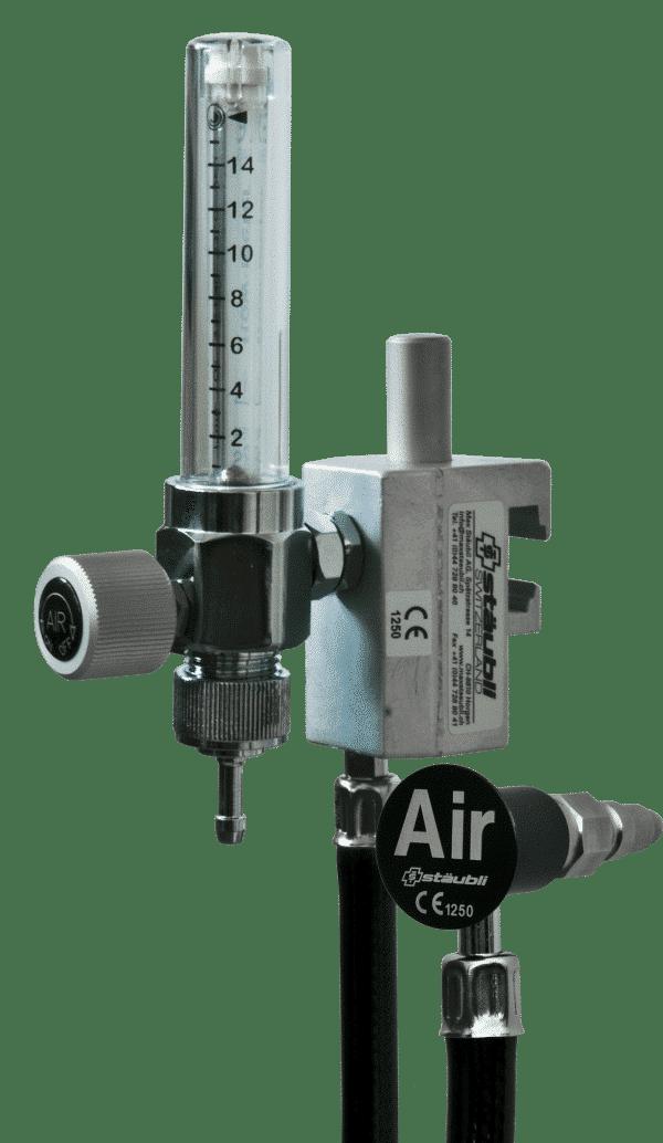 6.1.13 Luftentnahmearmatur mit Flowmeter und Universalhalter - Carba oder DIN