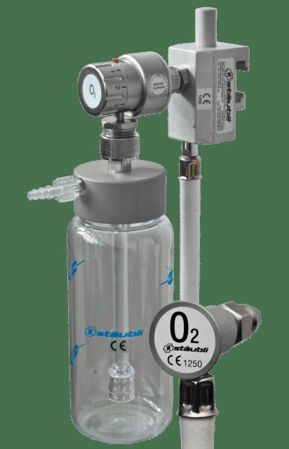 6.1.2 Sauerstoffspender mit Durchflusswähler und Unihalter
