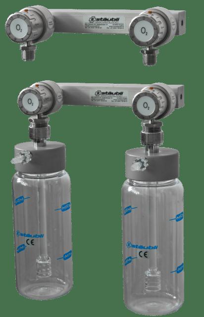 6.1.3 Doppel-Sauerstoffspender mit Durchflusswähler