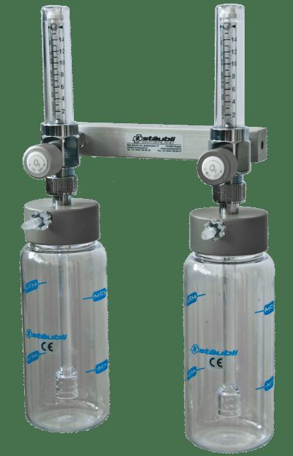 6.1.8 Doppel Sauerstoffspender mit Flowmeter - Carba oder DIN