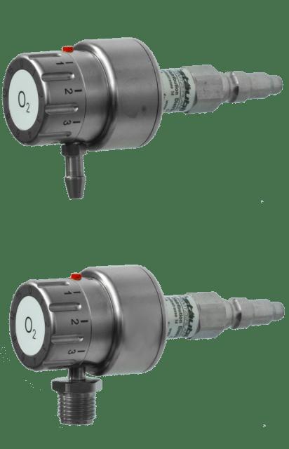6.1.1 Dispensateur d'Oxygène avec régulateur de débit 1-15 litres avec raccord - Carba ou DIN