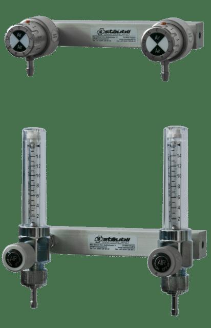 6.1.11 Dispensateur Double Air avec Flowmètre / avec raccord - Carba ou DIN